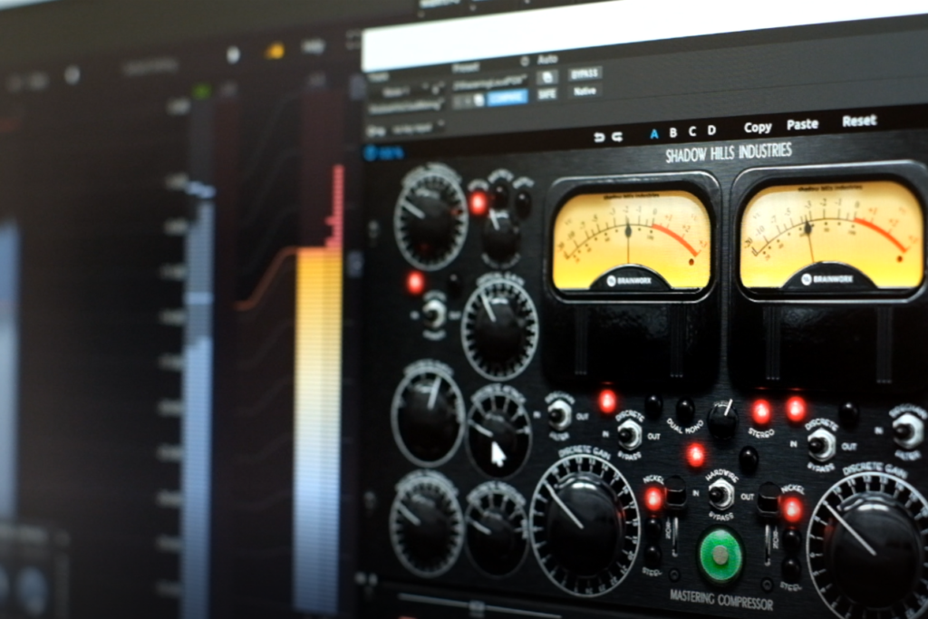 A selection of mastering plugins in use in Pro Tools